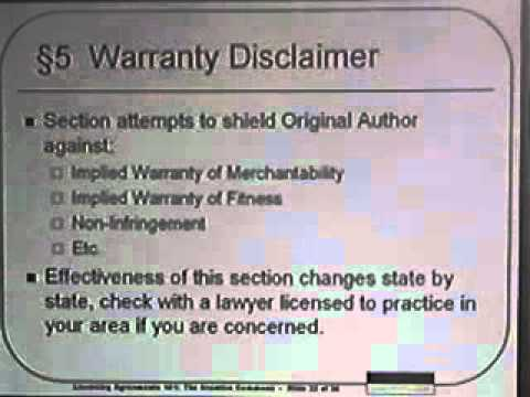 DEFCON 13: Licensing Agreements 101: The Creative Commons License