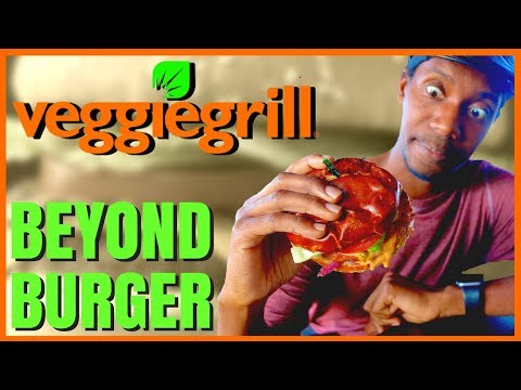 Roberto Blake Goes Vegan with the Beyond Meat Burger at Veggie Grill