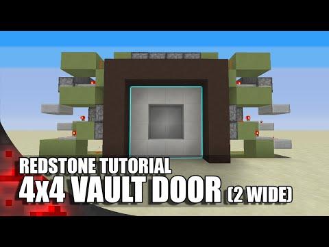 Minecraft: 4x4 Vault Door (Simple 2 Wide Version) - Vloggest