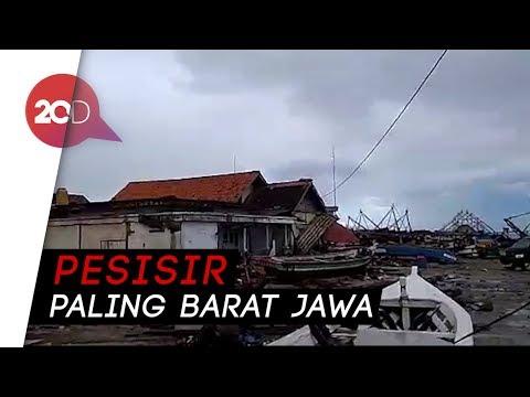 Kondisi Pesisir Ujung Kulon Diterjang Tsunami Senyap
