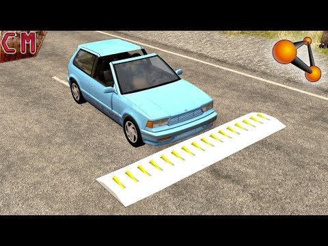 BeamNG Drive High speed spike strip crashes #3