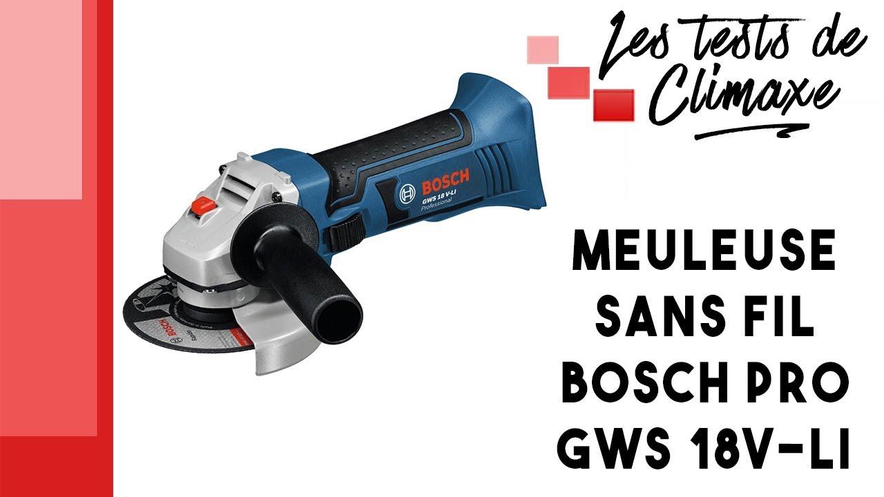 Bosch GWS 18 V-Li Sans Fil Meuleuse d/'angle 115 mm avec 4 x Diamant Lame