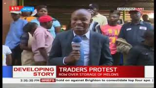 Nyeri watermelon traders protest over where to store their products