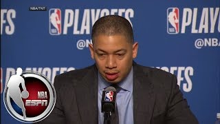 [FULL] Tyronn Lue offers condolences to Gregg Popovich in Game 2 news conference | NBA on ESPN thumbnail
