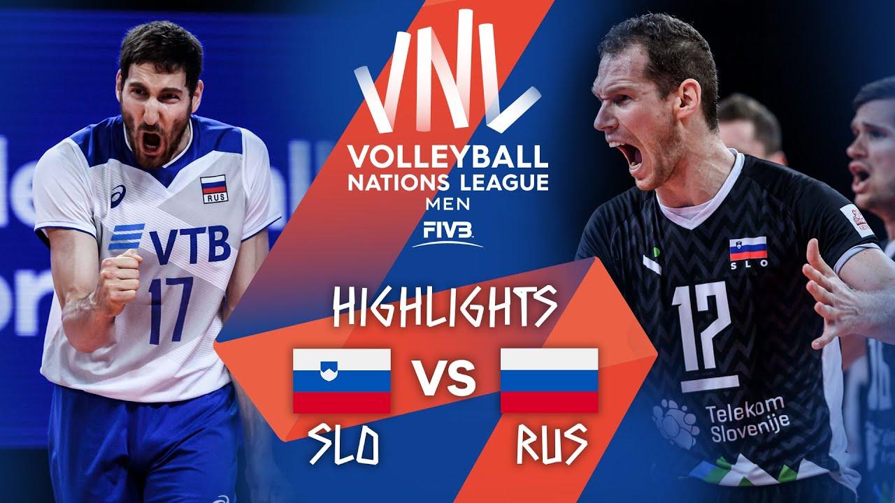 Download SLO vs. RUS - Highlights Week 3 | Men's VNL 2021