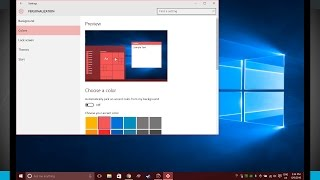 Windows 10 Tips - Change the Start Menu Colors