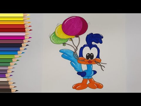 💙❤️💛Desenez Desene Animate | Desenam si Coloram Baby Looney Toons | Road Runner from YouTube · Duration:  3 minutes 54 seconds
