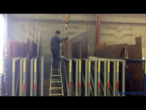 Storage And Handling Of Heavy Metal Sheets In U Box Rack