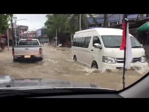Flooding  Koh Samui 2017