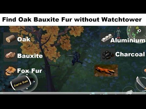 Find Oak Fox Fur  Bauxite  without unlocking Watchtower | last Day on earth