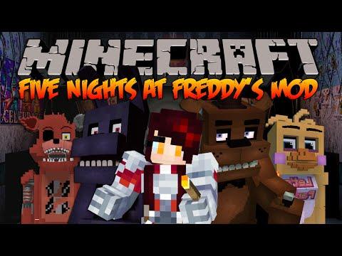 Minecraft รีวิว MOD : FIVE NIGHT AT FREDDY'S MOD!(Freddy, Bonnie, Foxy และอีกมากมาย!)