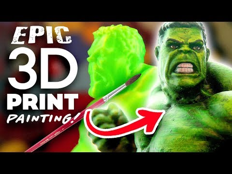 PAINTING MY 3D PRINTED HULK! - 3D Printed Miniatures Painting!