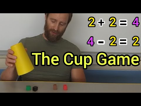 Number Sense, Fact Families, The Cup Game! Mr. B's Brain - A Mini Lesson