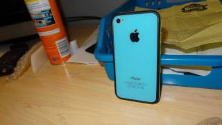 Iphone 4 back replacement with baby blue backplate