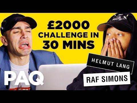 Spending &x00a32000; in 30 mins  Online Outfit Challenge  PAQ Ep 22  A  About Streetwear