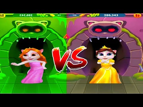АНДЖЕЛА против ТОМА! МОЙ ГОВОРЯЩИЙ ТОМ БЕГ ЗА ЗОЛОТОМ мультик игра для детей
