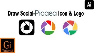 How to Draw Social-Picasa Icon and Logo Using Adobe Illustrator #Picasa