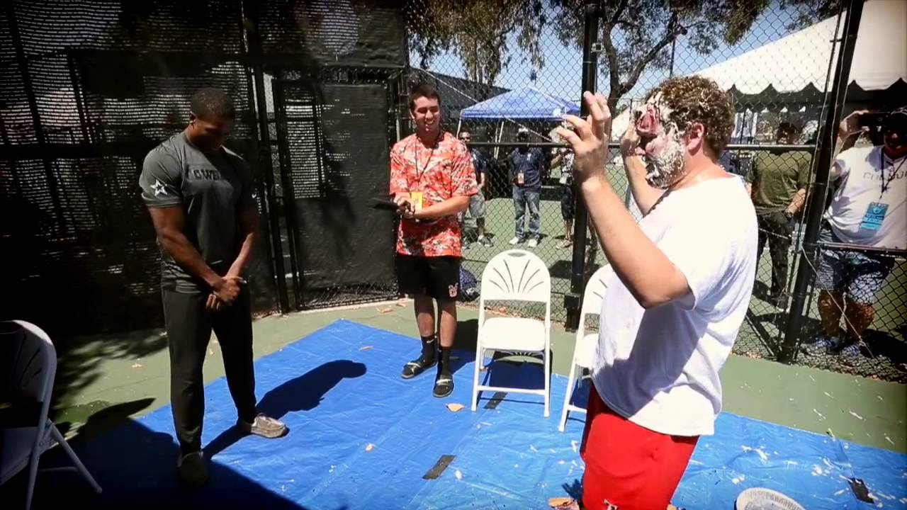 Dallas cowboys 105 3 the fan s pie in the face challenge youtube