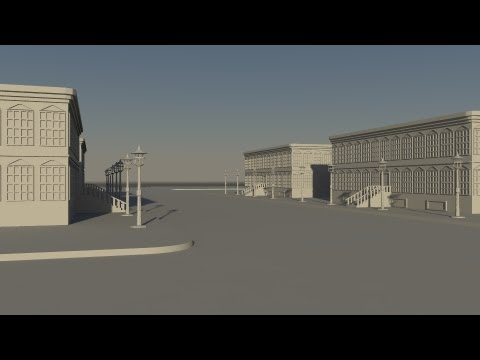 how to make a building in maya