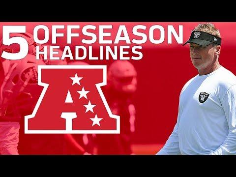 Every AFC Team's Top 5 Offseason Headlines | NFL