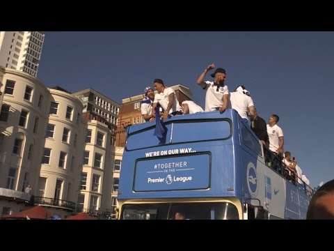 Brighton & Hove Albion Celebrate Promotion With Seafront Parade