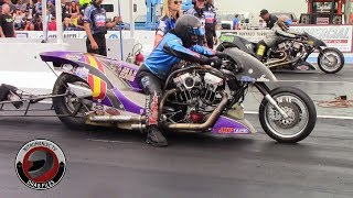 2016 IHRA Rocky Mountain Nationals Part 27: (Nitro Harley Eliminations Rd. 1)