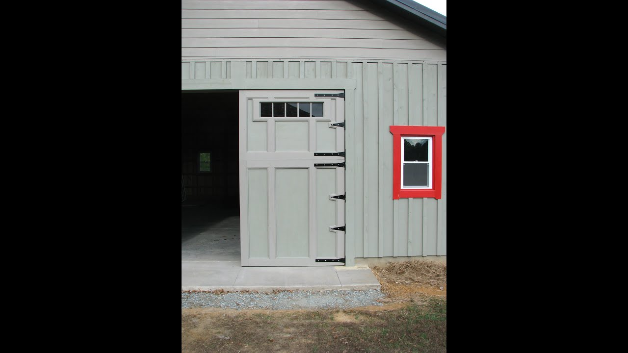 Barn Garage Doors how to build barn or garage swing out doors - youtube
