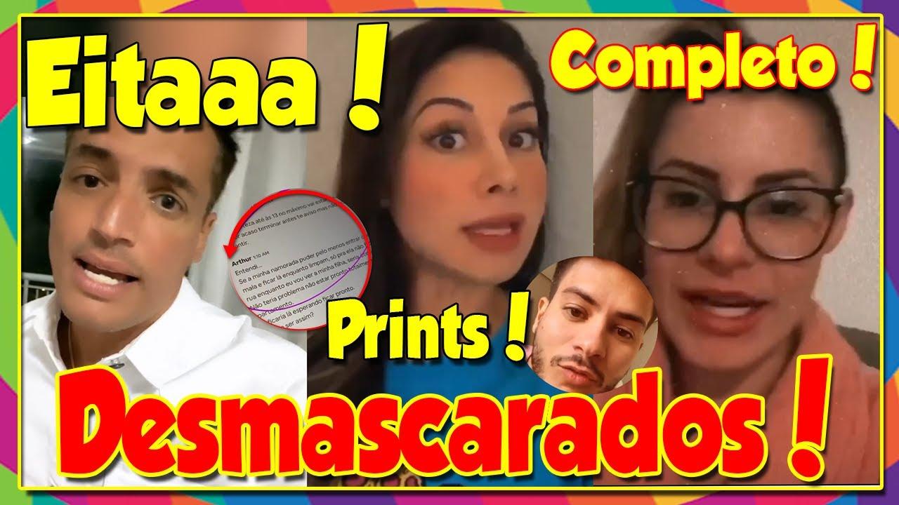 """Eitaaa💥 Léo Dias e Mayra se juntam e """"desmascaram"""" Arícia Silva e Arthur Aguiar com PROVAS! COMPLETO"""