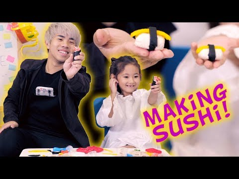 Play-Doh Challenge: Making SUSHI!!!