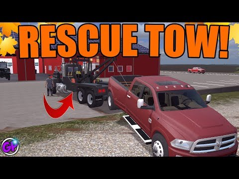 RESCUE TOWING | NEW TOW TRUCKS | WITH SPENCER TV | FARMING SIMULATOR 2017 thumbnail