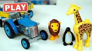 КУКУТИКИ PLAY - Синий Трактор едет в Зоопарк - Изучаем  Животных