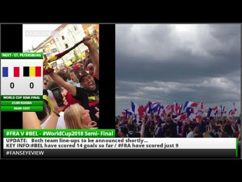 France fans on Champs Elysee celebrate World Cup Russia 2018 #FansEyeView (LIVE + Tape)