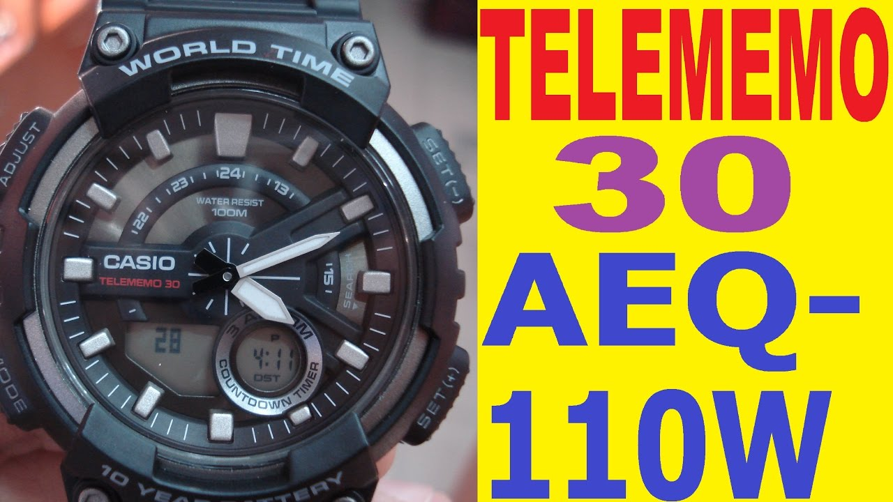 54b14f5bdcdf Casio telememo 30 AEQ-110W manual for use - YouTube