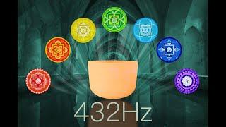 All 7 Chakras Crystal Singing Bowls 30 Min. Deep Opening & Balancing Meditation Music | 432Hz based