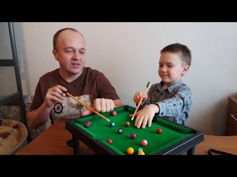 Бильярд для детей Распаковка и обзор игрушки детский бильярд