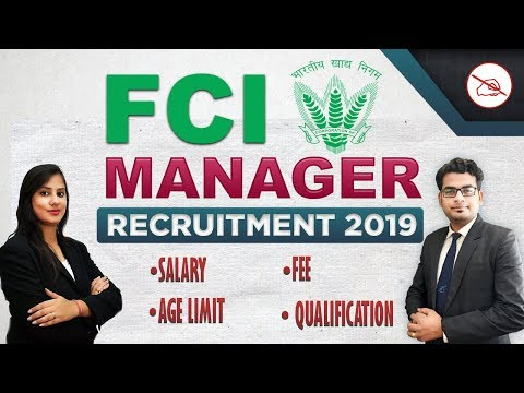 FCI Manager Recruitment 2019 | Notification Released