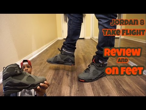 a6ad4d262cd Jordan 8 Take Flight / Sequoia with on foot Review - YouTube