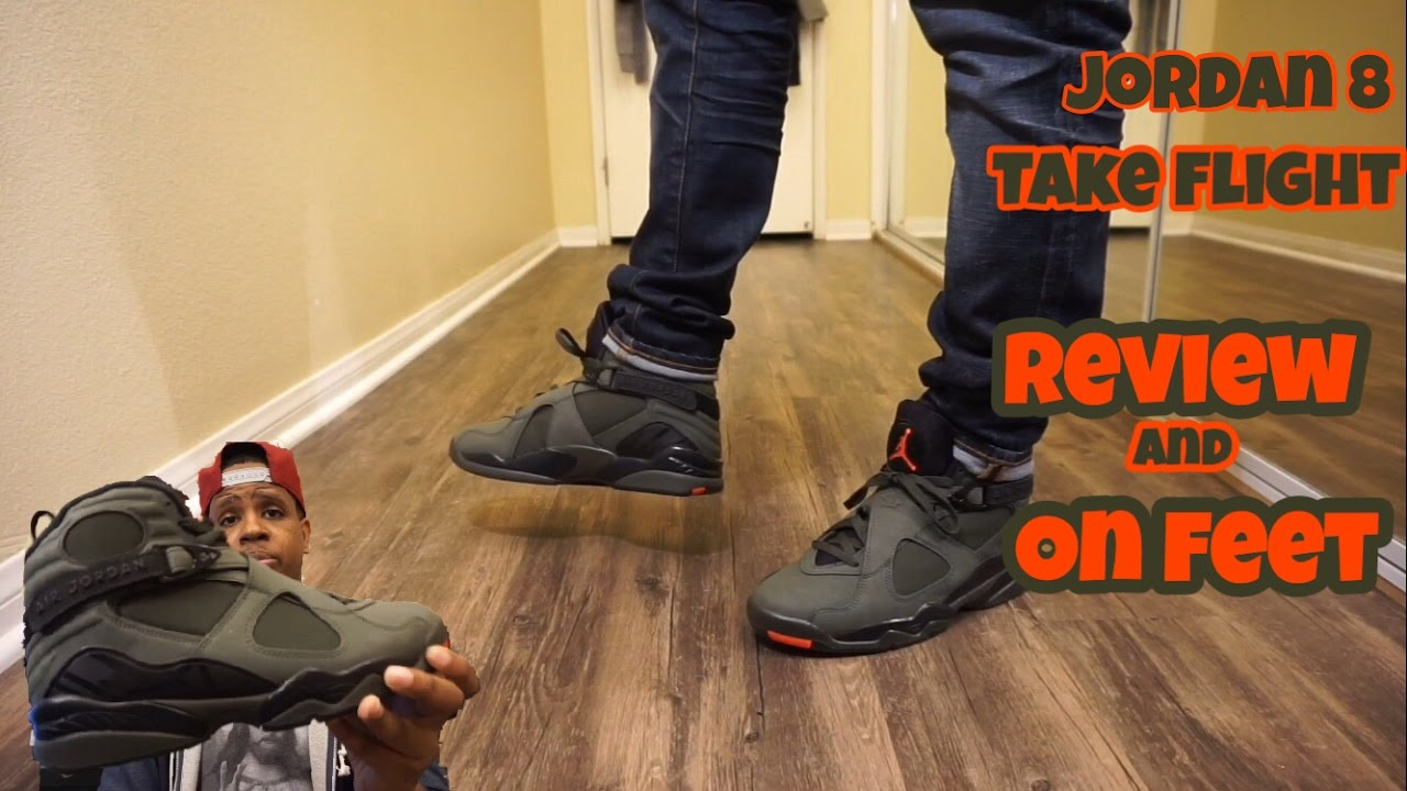 f6dba5bc2a08 Jordan 8 Take Flight   Sequoia with on foot Review - YouTube