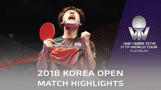 Jang Woojin vs Liang Jingkun | 2018 Korea Open Highlights (Final)