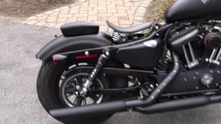Installing pillion seat, sissy bar (backrest) and luggage rack on Harley Davidson Iron 883.