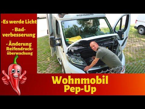 Wohnmobil Pep-Up 🤩 Es werde Licht /Bad-Verbesserung/Änderung Reifendrucküberwachung #VLOG 93