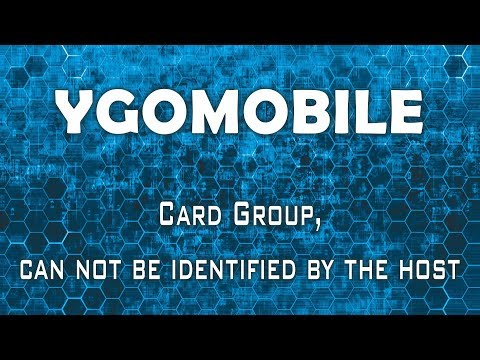YGOMobile - Alert: Card Group, can not be identified by the host