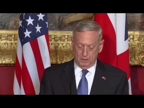 British Defense Secretary Michael Fallon and U.S. Secretary of Defense James Mattis News Conference