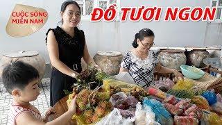 Đám giỗ Miền Tây Phần 2: Mẹ Đi chợ về đồ tươi ngon quá   Nam Việt 762