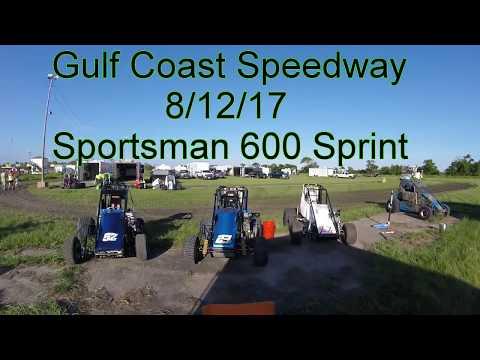 Gulf Coast Speedway 8/12/17 Sportsman 600 Sprints