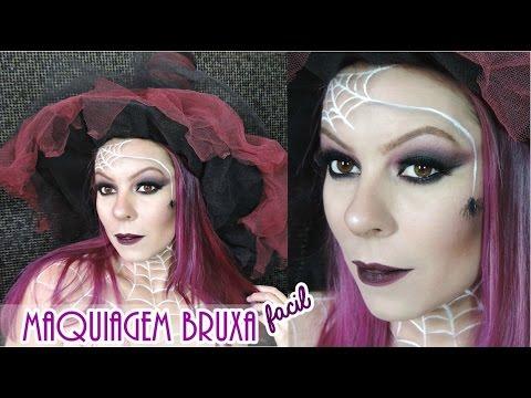 Maquiagem De Bruxa Super Fácil Halloween Youtube