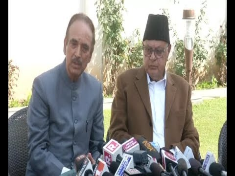Congress and National Conference Address a Joint Press Conference