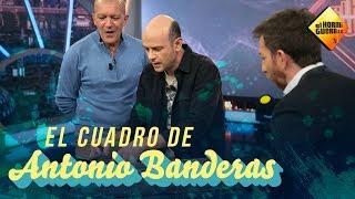 Jandro hace magia con un retrato de Antonio Banderas