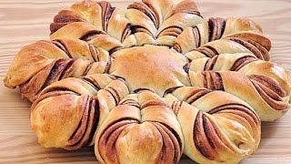 巧克力星星麵包。chocolate star bread