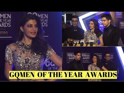 Jacqueline Fernandez |Sidharth Malhotra|Karan Johar| AT GQMEN  OF THE YEAR  AWARD 2017